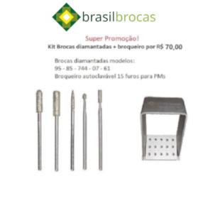 Kit de brocas diamantadas PM + broqueiro